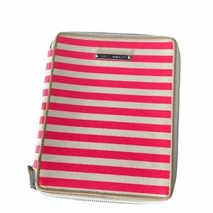Rebecca Minkoff pink striped iPad case